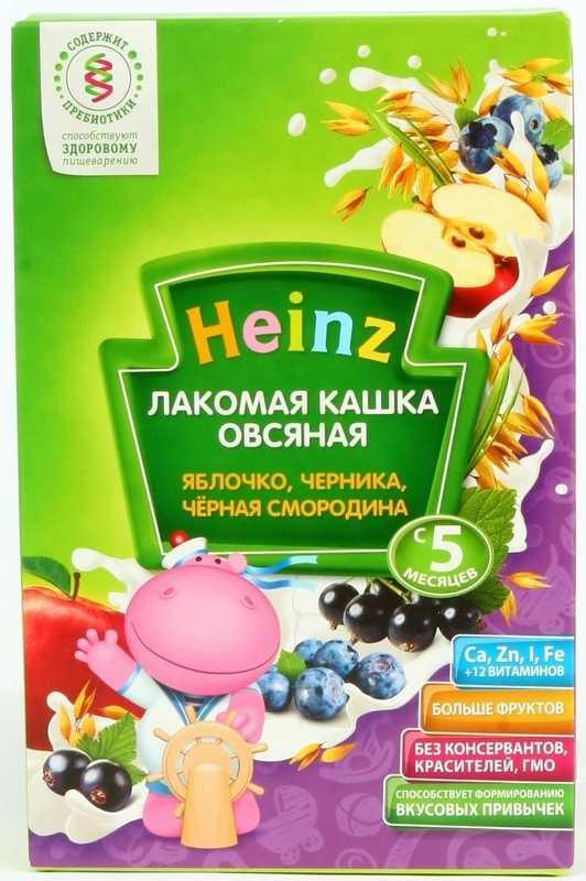 Хайнц каша овсяная лакомая яблоко/черника/чёрная смородина 5+ 200г, фото №1