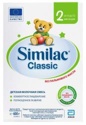 СИМИЛАК КЛАССИК 2 смесь молочная для детей 6-12 месяцев 600г
