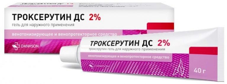 ТРОКСЕРУТИН ДС 2% 45г гель для наружного применения