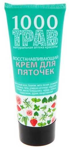 1000 трав крем для пяточек восстанавливающий 75мл, фото №1