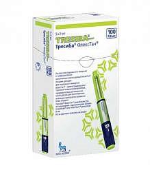 Тресиба флекстач 100ед/мл 3мл 5 шт. раствор для подкожного введения картр. в шпр.-ручк.