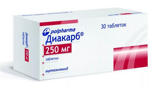 Диакарб 250мг 30 шт. таблетки польфарма, фото №1