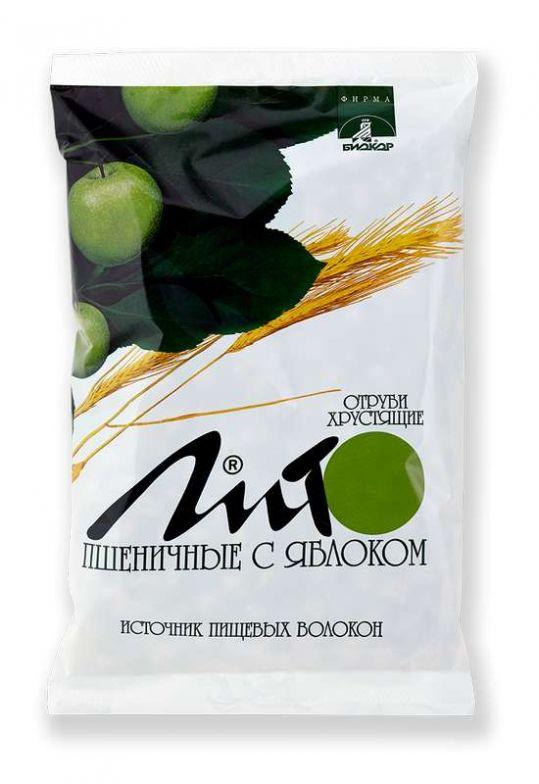Лито отруби пшеничные хрустящие с кальцием и яблоком 200г, фото №1