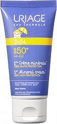 Урьяж первый уход крем солнцезащитный минеральный spf50+ 50мл