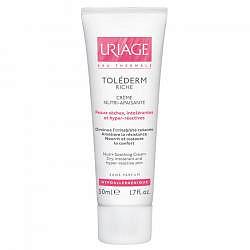 Урьяж толедерм риш крем питательный успокаивающий для сухой/чувствительной кожи 50мл