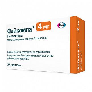 Файкомпа 4мг 28 шт. таблетки покрытые пленочной оболочкой