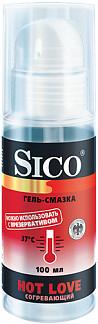 Сико гель-смазка hot love/согревающий 100мл
