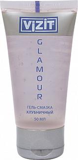 Визит гель-смазка гламур клубничная 50мл