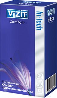 Визит презервативы хай-тэк комфорт n12