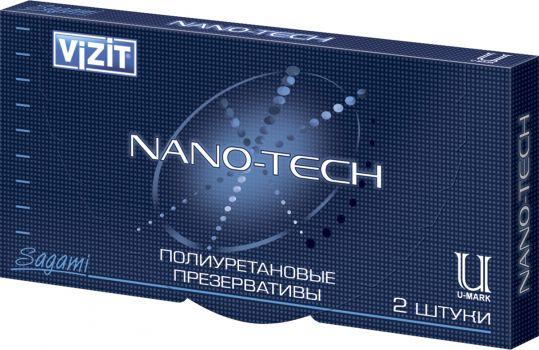 Визит презервативы нано-тэк полиуретановые 2 шт., фото №1