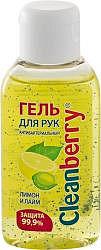 Клинбери гель для рук лимон/лайм 50мл