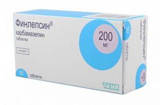 Финлепсин 200мг 50 шт. таблетки