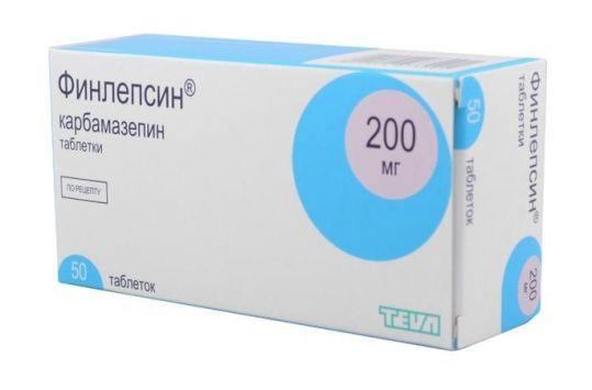 Финлепсин 200мг 50 шт. таблетки, фото №1