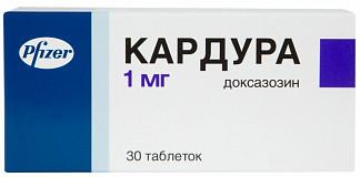 Кардура 1мг 30 шт. таблетки