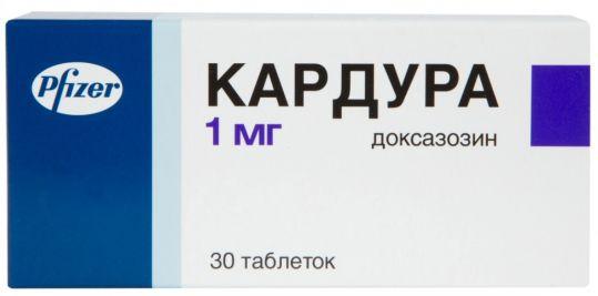 Кардура 1мг 30 шт. таблетки, фото №1
