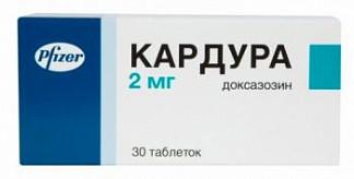 Кардура 2мг 30 шт. таблетки