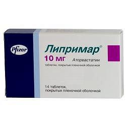 Липримар 10мг 14 шт. таблетки покрытые пленочной оболочкой pfizer ireland pharmaceuticals