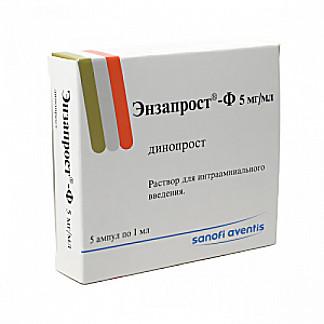 Энзапрост-ф 1мл 5 шт. раствор для интраамниального введения chinoin pharmaceutical and chemical work