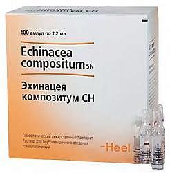 Эхинацея композитум сн 2,2мл 100 шт. раствор для инъекций ампулы biologische heilmittel heel gmbh