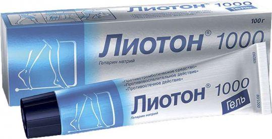 Лиотон 1000 100г гель a.menarini manufacturing logistics, фото №1