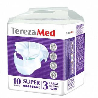 Терезамед подгузники для взрослых супер ладж размер 3 10 шт.