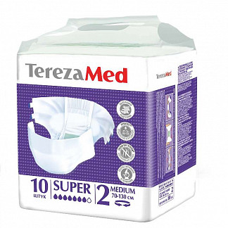 Терезамед подгузники для взрослых супер медиум размер 2 10 шт.