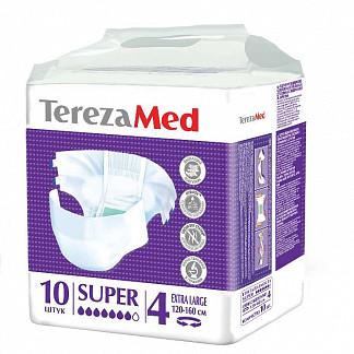 Терезамед подгузники для взрослых супер экстра ладж размер 4 10 шт.