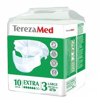 Терезамед подгузники для взрослых экстра ладж размер 3 10 шт.