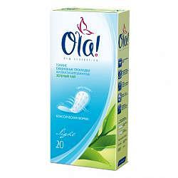 Ола дейли бриз део прокладки ежедневные зеленый чай 60 шт.