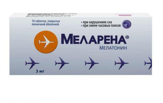 Меларена 3мг 10 шт. таблетки покрытые пленочной оболочкой, фото №1