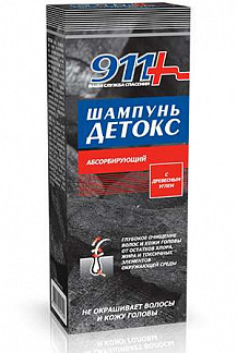 911 детокс шампунь абсорбирующий древесный уголь 150мл