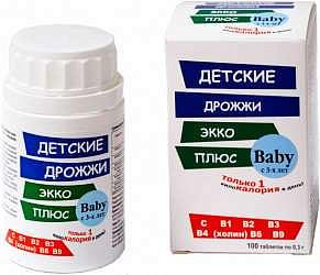 Дрожжи пивные таблетки для детей 100 шт.