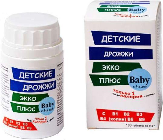Дрожжи пивные таблетки для детей 100 шт., фото №1