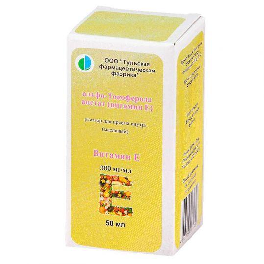 Альфа-токоферола ацетат (витамин е) 300мг/мл 50мл раствор для приема внутрь масляный, фото №1