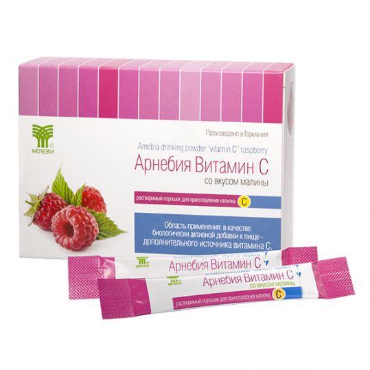 Арнебия витамин c порошок 5г малина 20 шт., фото №1