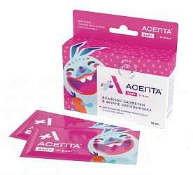 Асепта бэби салфетки для гигиены полости рта с рождения 12 шт.