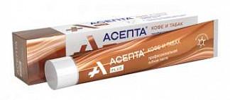 Асепта плюс зубная паста кофе и табак 75мл