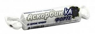 Аскорбин ка форте таблетки для рассасывания черника 10 шт. крутка