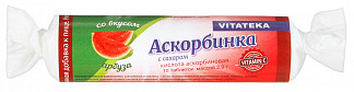Аскорбинка с сахаром таблетки арбуз 2,9г 10 шт. крутка
