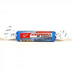 Аскорбинка плюс таблетки жевательные 500мг с глюкозой 10 шт. крутка