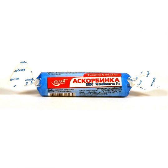 Аскорбинка плюс таблетки жевательные 500мг с глюкозой 10 шт. крутка, фото №1