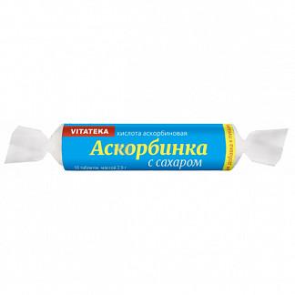Витатека аскорбинка таблетки 25мг с сахаром 2,9г 10 шт. крутка