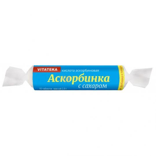 Витатека аскорбинка таблетки 25мг с сахаром 2,9г 10 шт. крутка, фото №1
