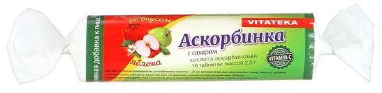 Витатека аскорбинка таблетки 25мг с сахаром яблоко 2,9г 10 шт., фото №1