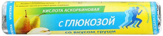 Витатека аскорбинка таблетки 30мг с глюкозой груша 2,9г 14 шт., фото №1