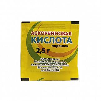 Аскорбиновая кислота порошок 2,5г 1 шт.