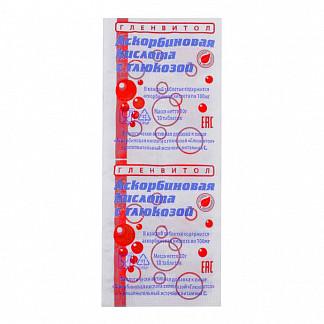 Аскорбиновая кислота с глюкозой гленвитол таблетки 100мг клубника 10 шт. стрип