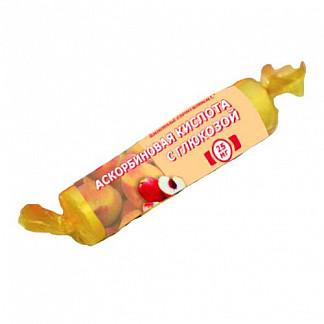 Аскорбиновая кислота с глюкозой гленвитол таблетки 25мг персик 10 шт. крутка