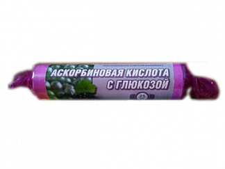 Аскорбиновая кислота с глюкозой гленвитол таблетки 25мг черника 10 шт. крутка