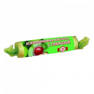 Аскорбиновая кислота с глюкозой гленвитол таблетки 25мг яблоко 10 шт.